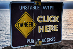 click here danger sign